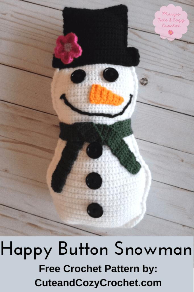 10 Happy Button Snowman