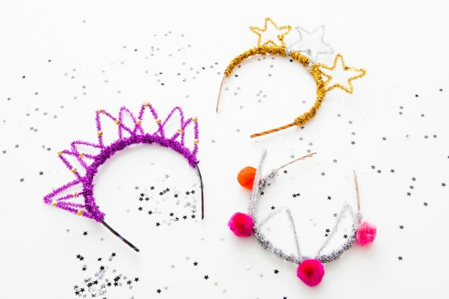 12 Pipe Cleaner Party Crowns