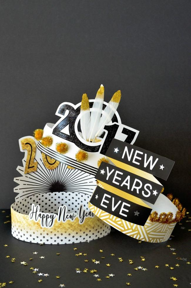 13 DIY New Years Eve Hats
