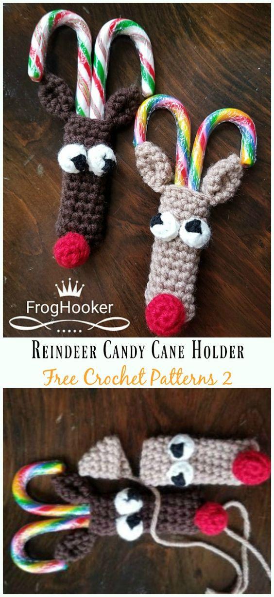 13 Reindeer Candy Cane Holder