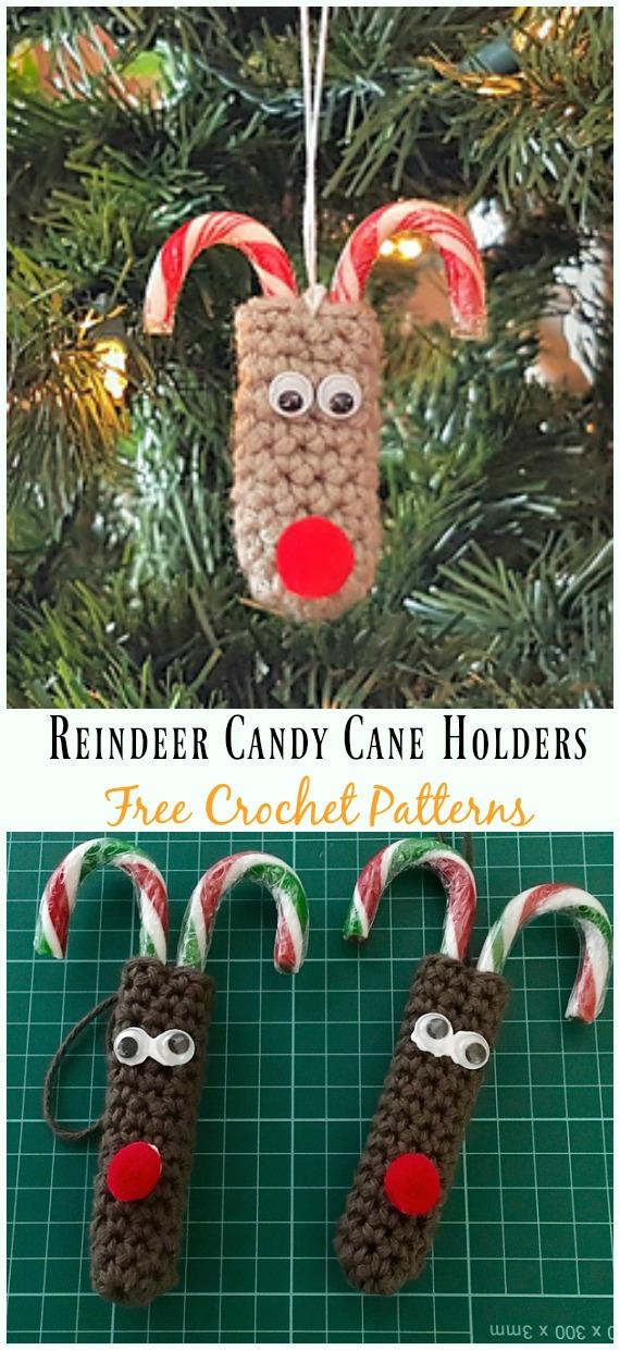 15 Reindeer Candy Cane Holders Pattern
