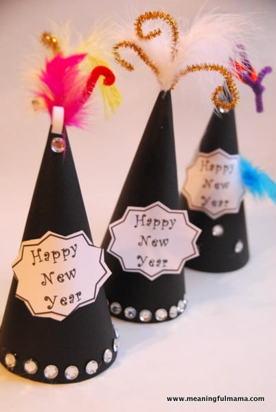 18 NEW YEARS EVE DIY PARTY HATS