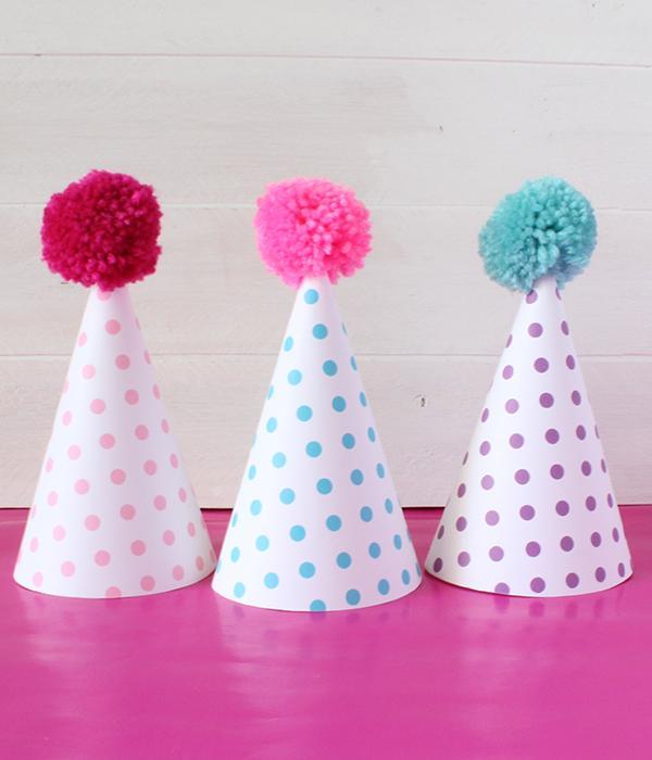 21 Polka Dot Party Hat
