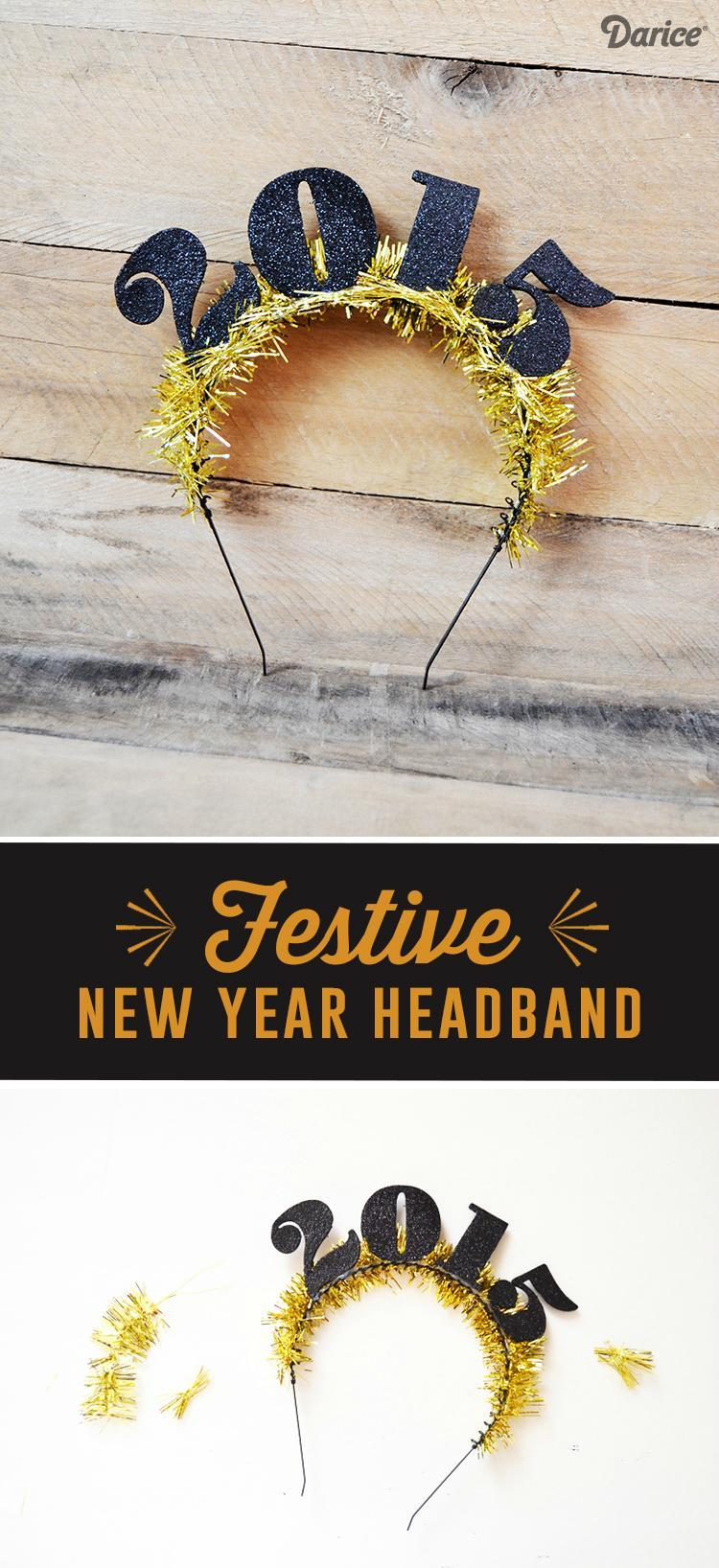 22 FESTIVE DIY NEW YEAR HEADBAND