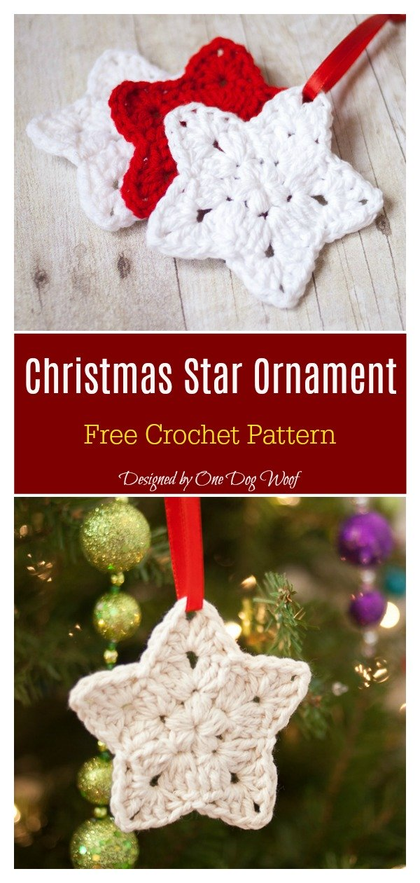 22 Star Ornament Free Crochet Pattern