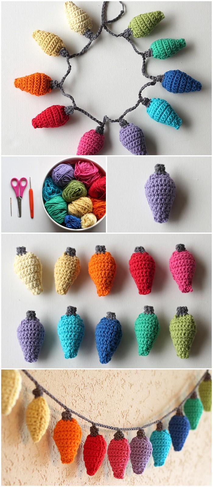 26 DIY Crochet Christmas Light Ornament