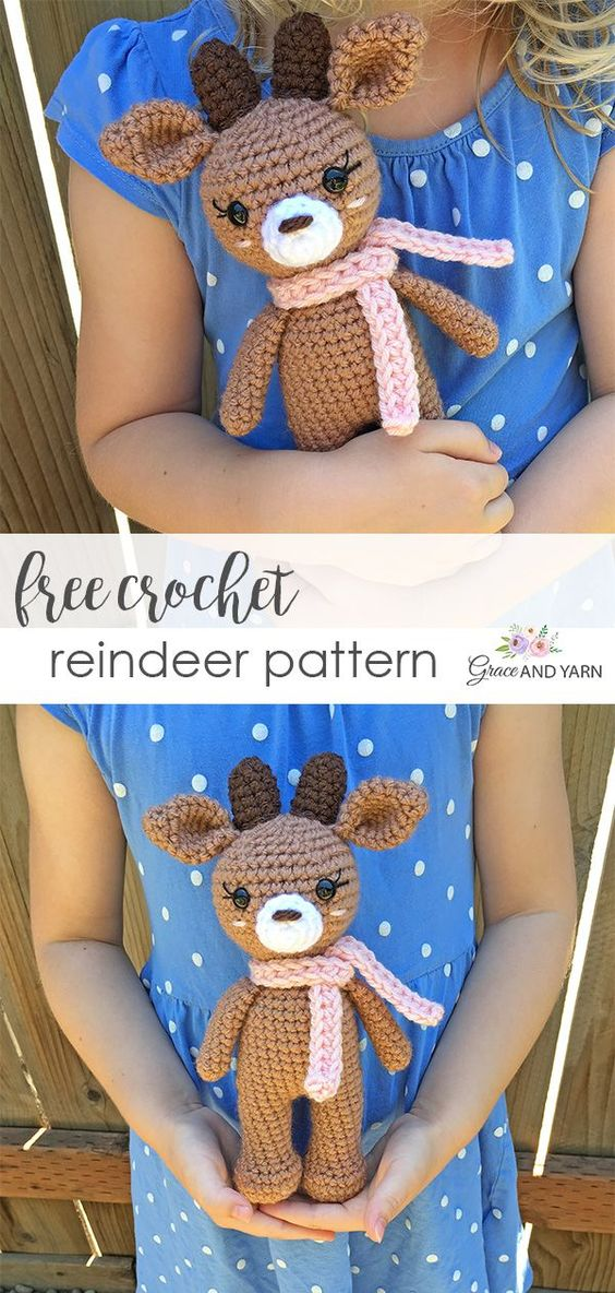 28 Free Crochet Mini Reindeer Pattern