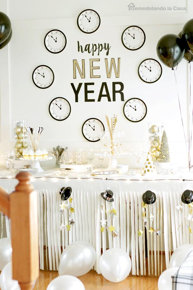28 Paper Plate Clock Decoration for New Year