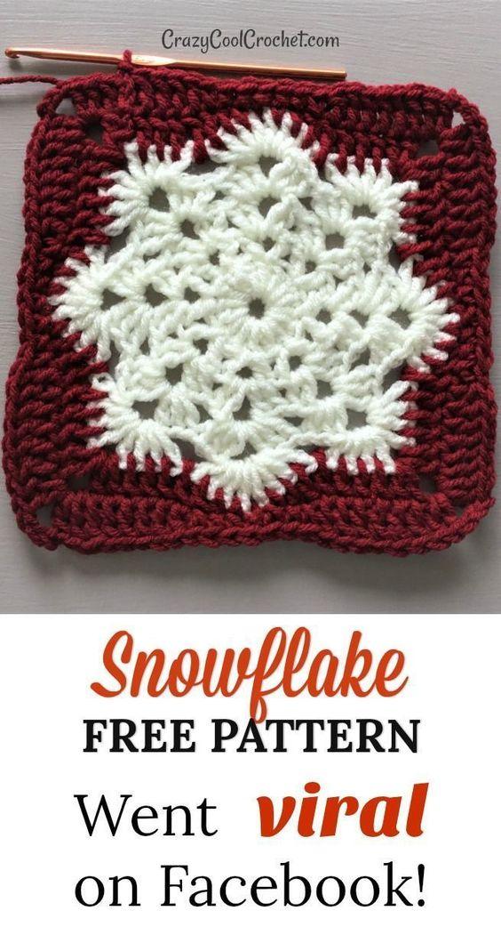 29 Christmas Snowflake Free Crochet Pattern