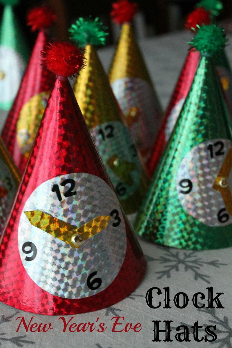 29 Clock Hats for New Years Eve
