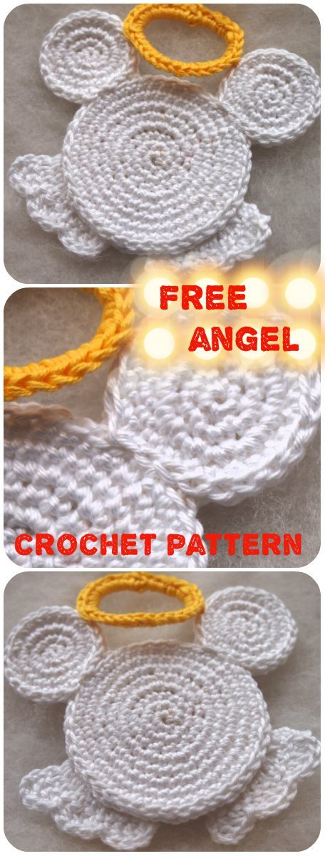 3 Angel Mouse Free Crochet Pattern