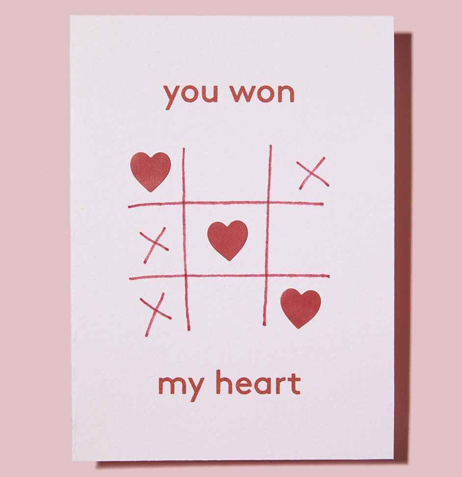 You won my heart CARDS