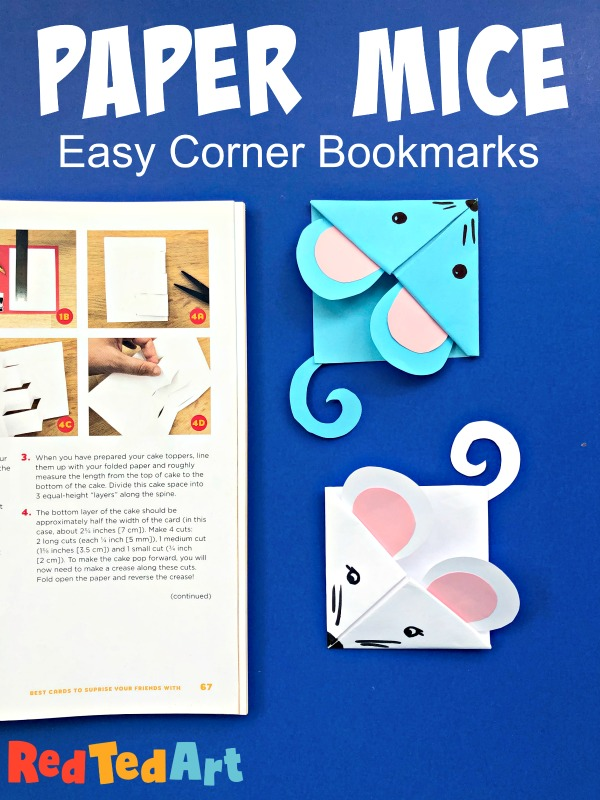 13 Easy Mouse Corner Bookmark