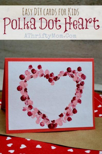 14 Polka Dot Heart Card