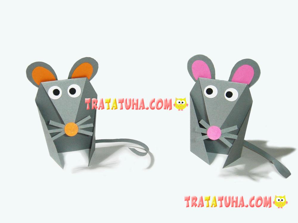 15 Simple Paper Rat for Kids