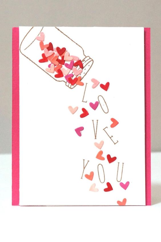16 I love you Valentines Day Card
