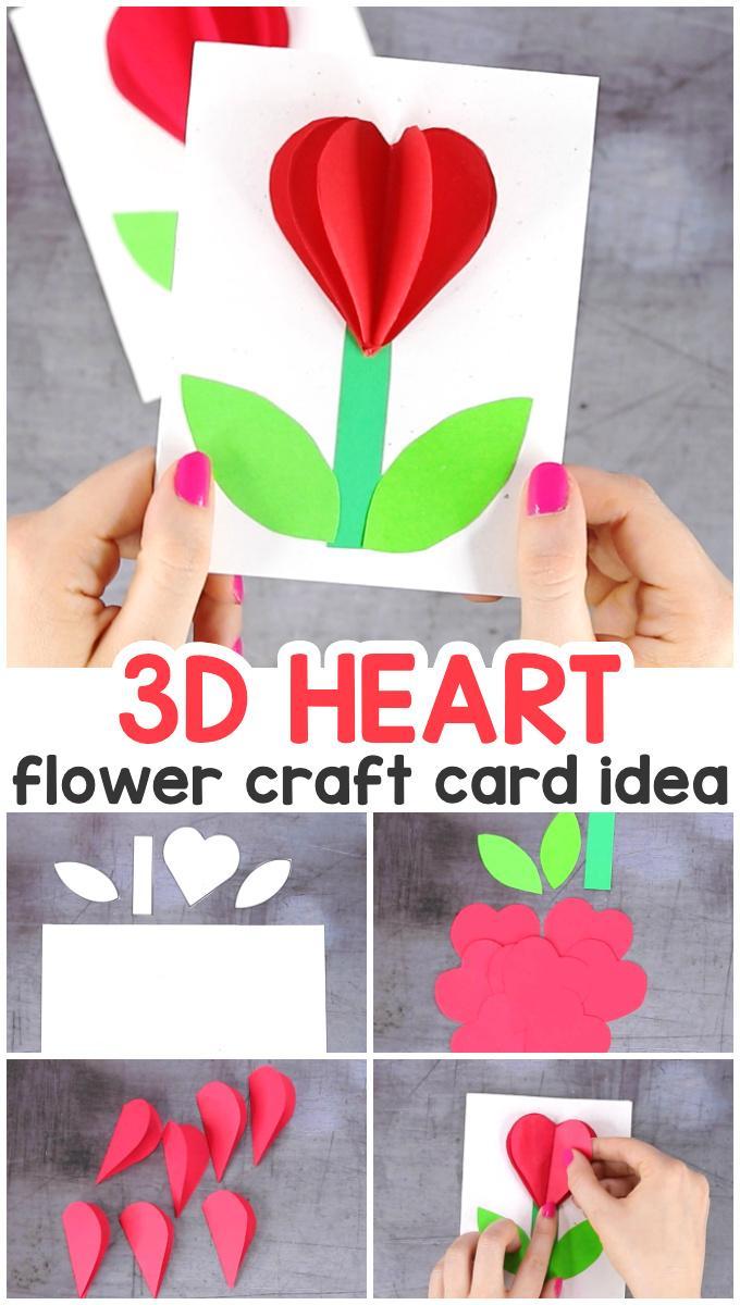 17 3D Heart Flower Card