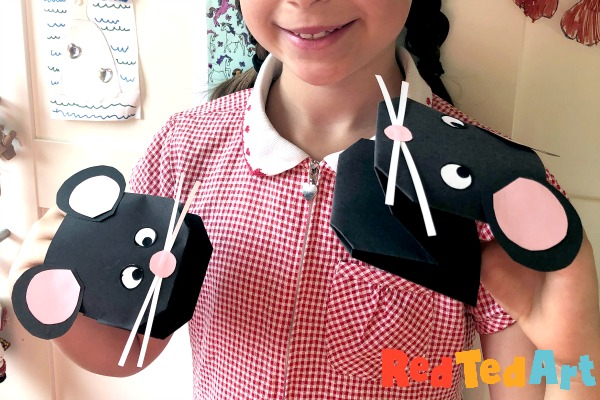 19 Easy Paper Mouse Hand Puppet