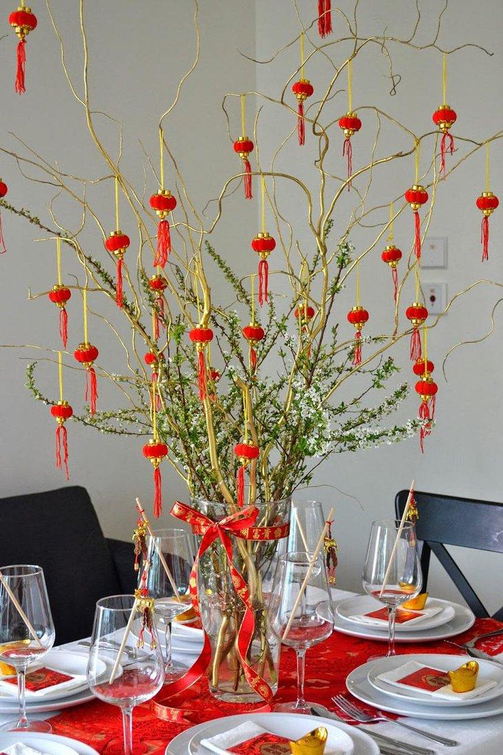 19 Table Centerpiece for Chinese New Year