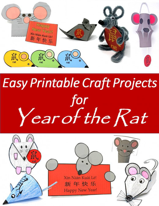 2 Printable Year of the Rat Craft