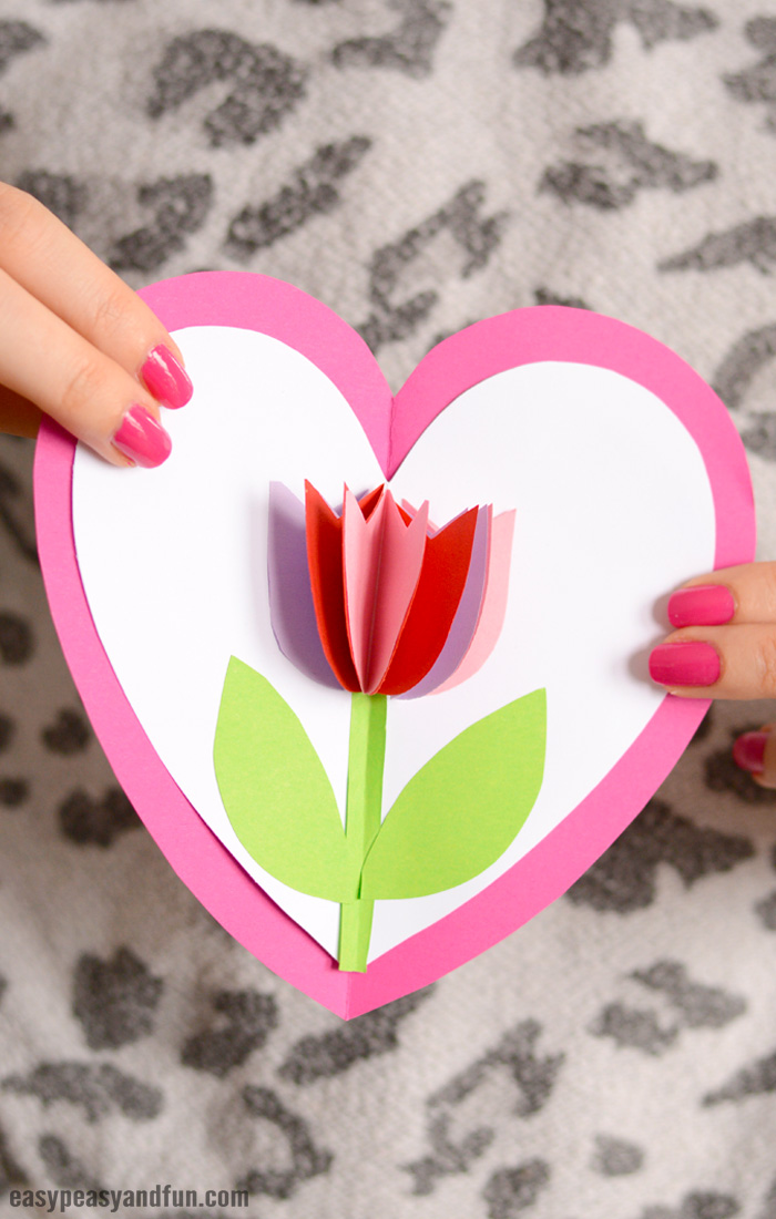 23 Tulip in a Heart Card