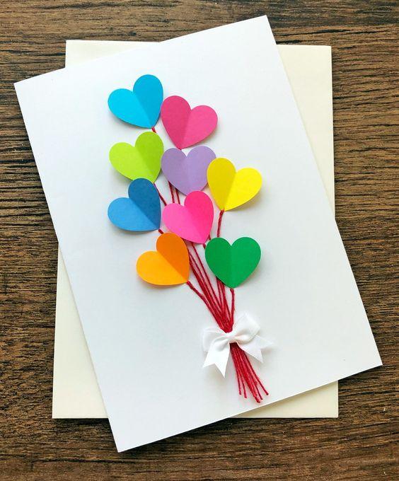 24 Heart Bouquet Card