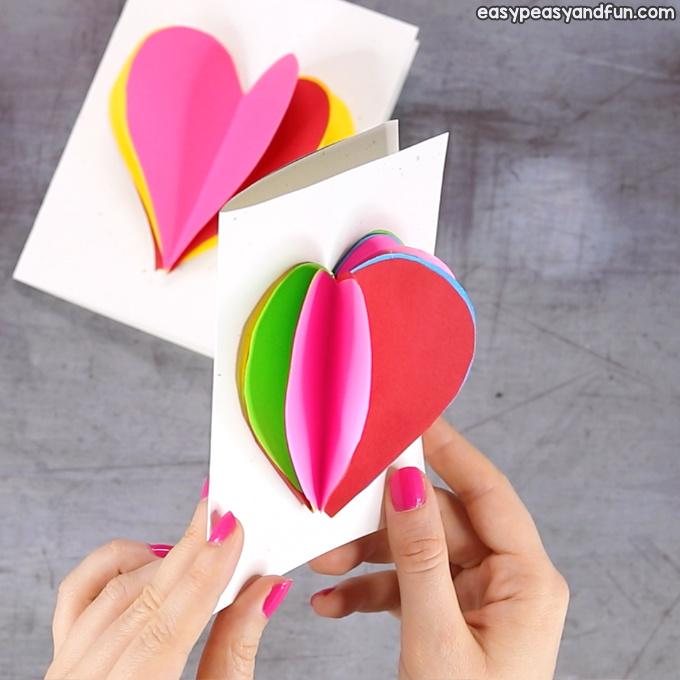 25 3D Heart Card