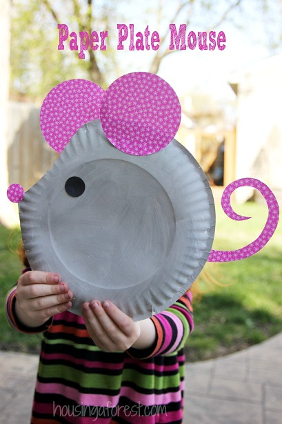 26 Paper Plate Mouse Craft