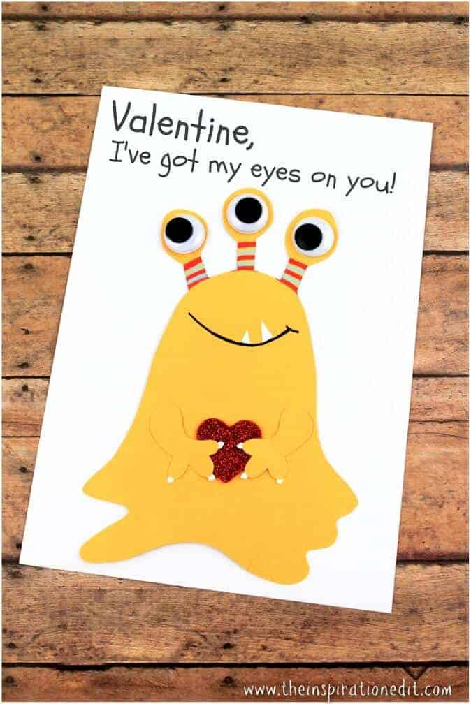 28 Love Monster Valentines Day Card
