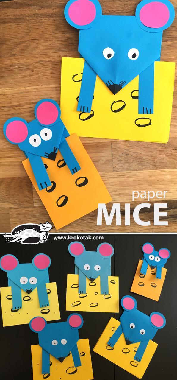29 Cute Paper MICE Craft
