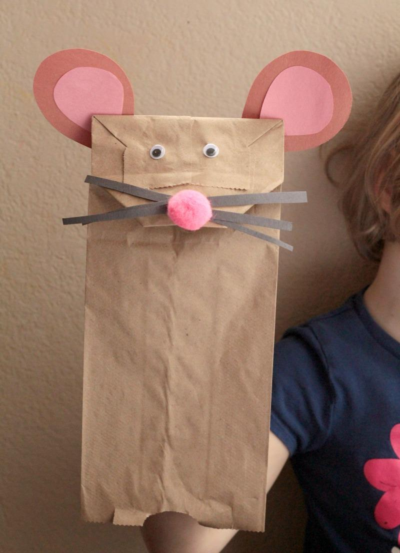 30 Paper Bag Mouse Puppet Craft