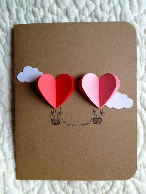 34 Cute Hot Air Balloon Card