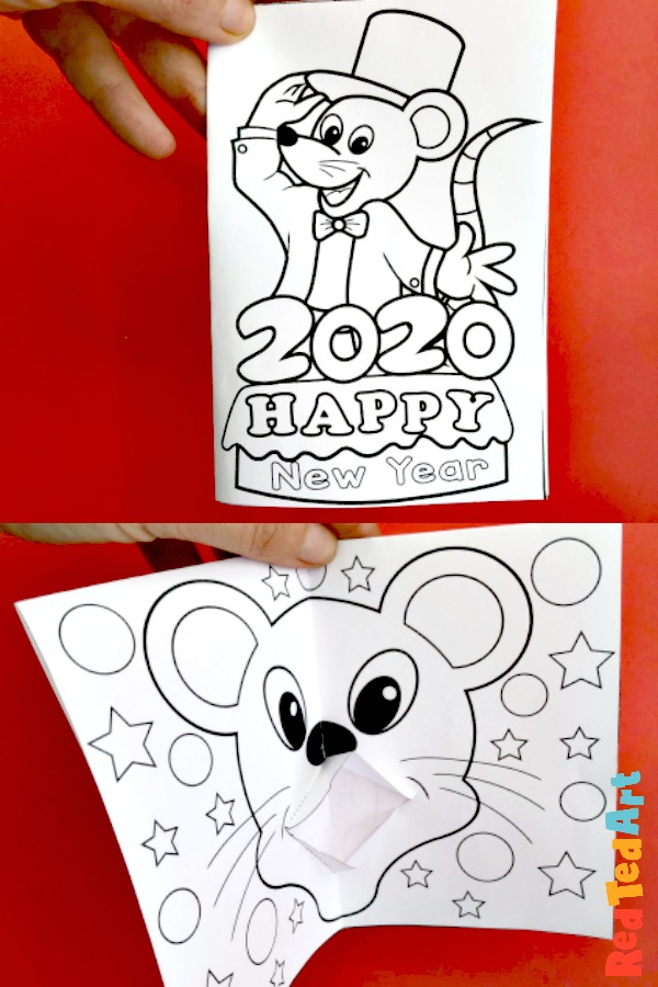 5 Chinese New Year of the Rat Pop Up Card