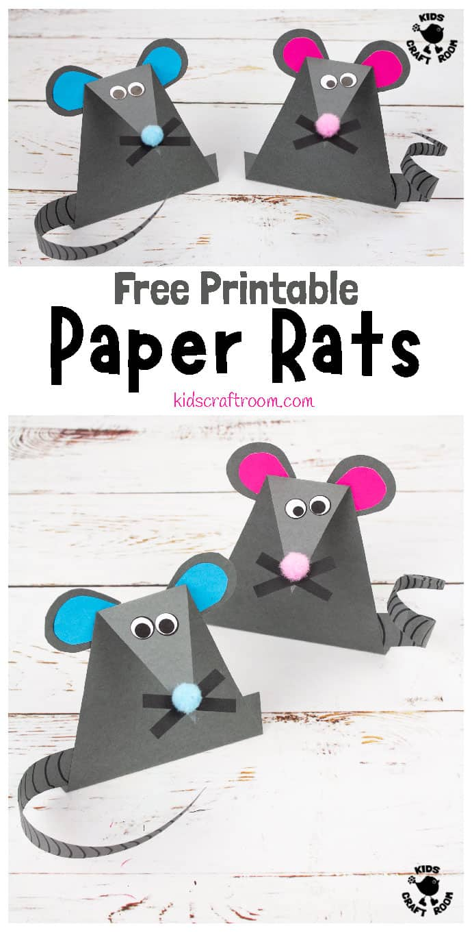 9 EASY PAPER MOUSE CRAFT