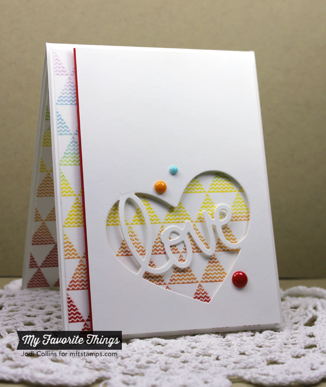 9 Patterned Valentines Card