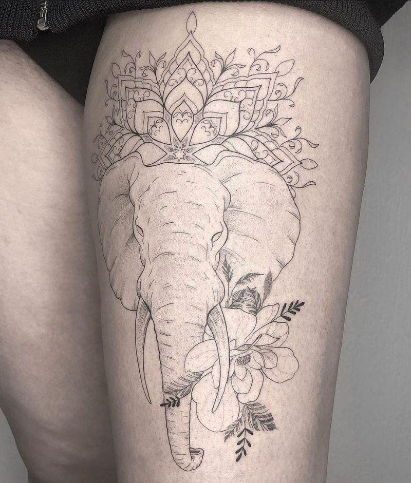 30 Pretty Elephant Tattoos to Inspire You