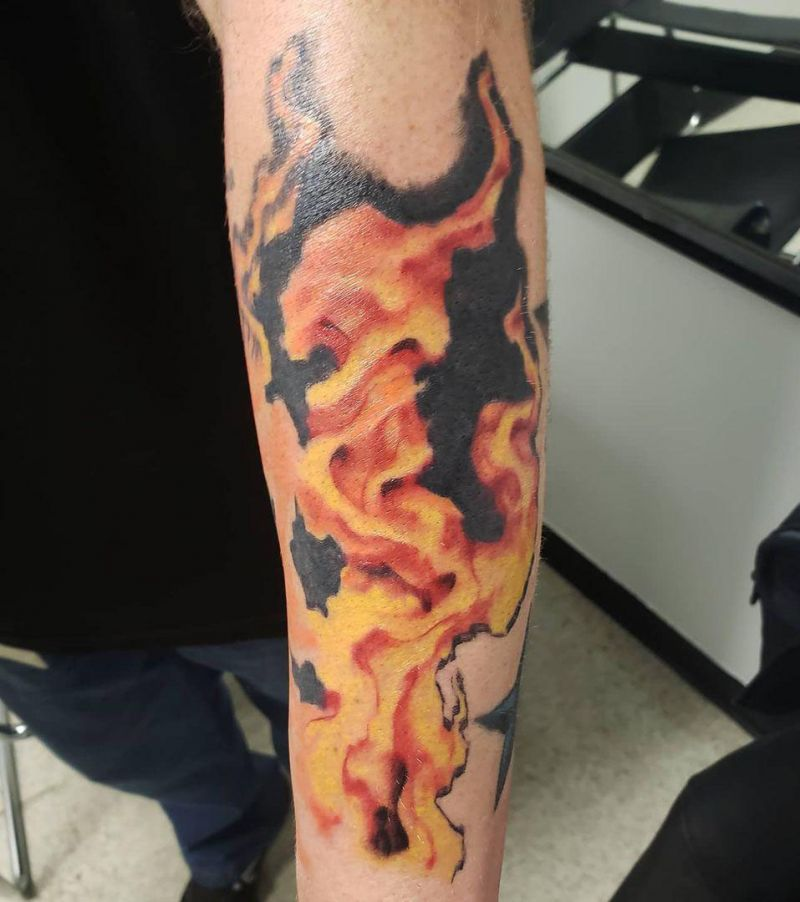 30 Fine Fire Tattoos You Must Try
