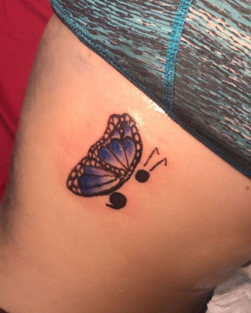 30 Pretty Semicolon Tattoos to Inspire You