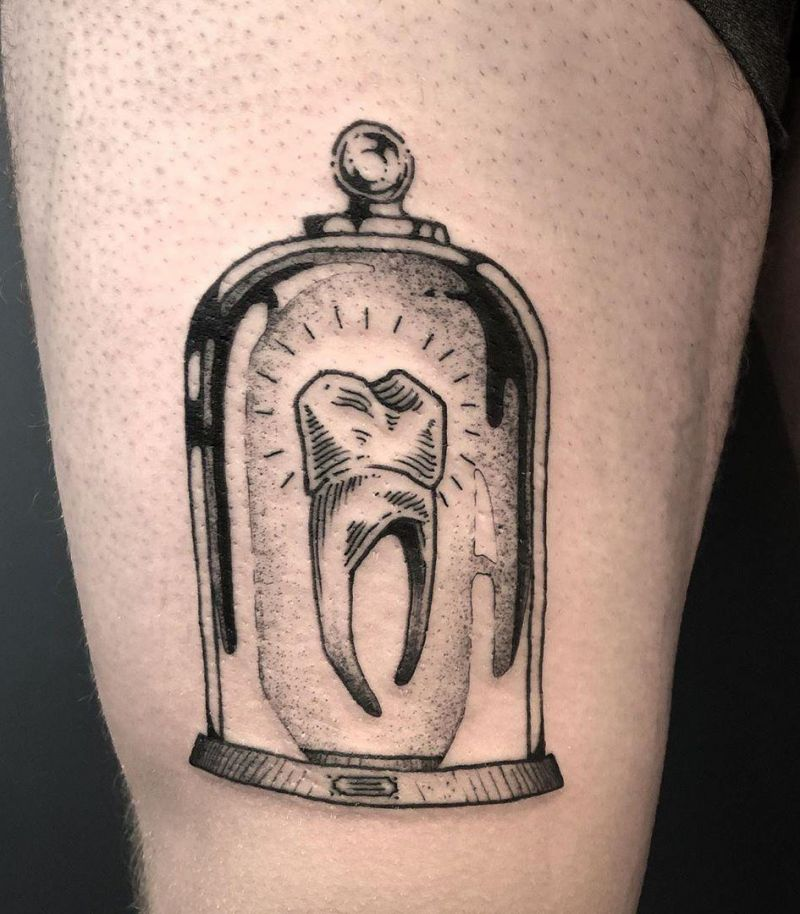 30 Cute Tooth Tattoos You Will Love