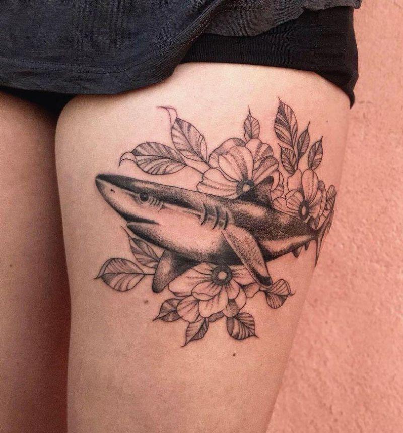 30 Pretty Shark Tattoos You Will Love