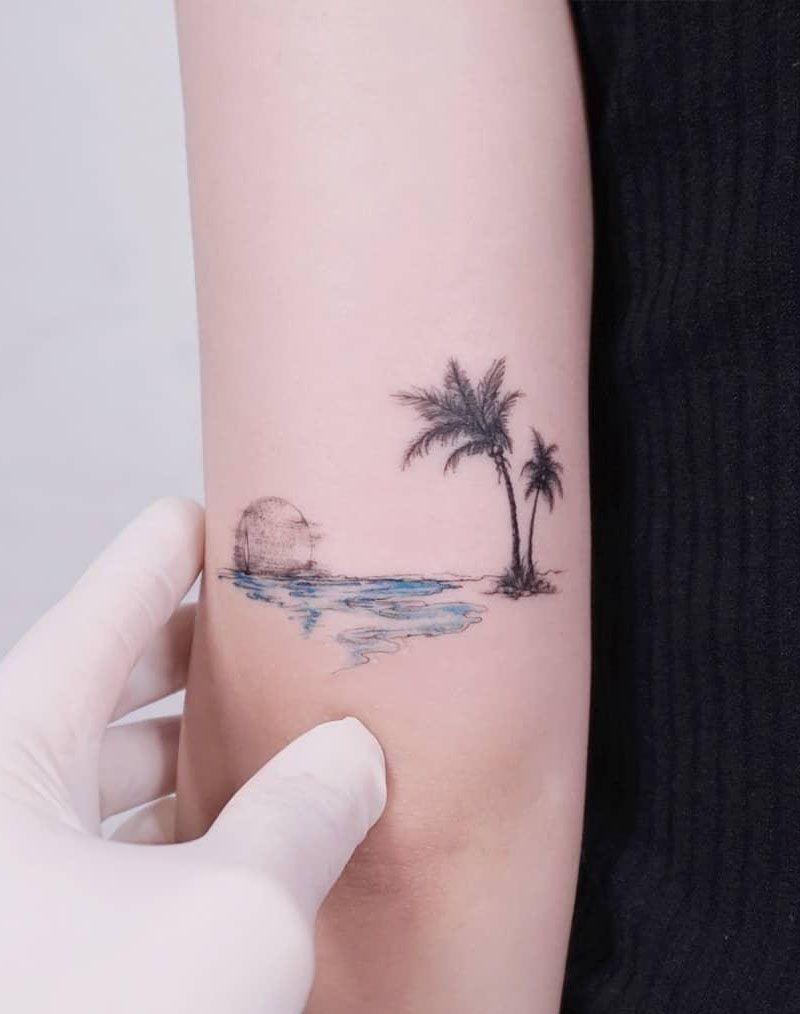30 Pretty Palm Tree Tattoos You Will Love