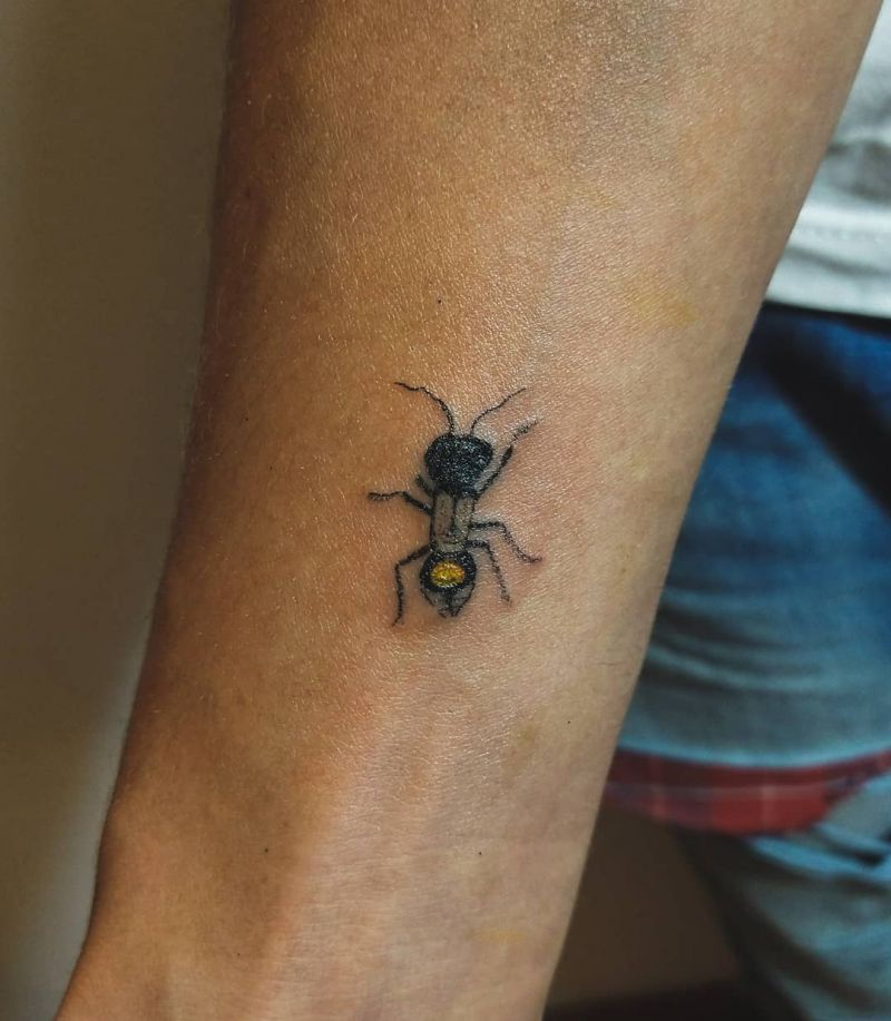 30 Cute Ant Tattoos You Will Love