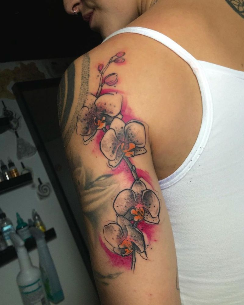 30 Pretty Orchid Tattoos You Must Love