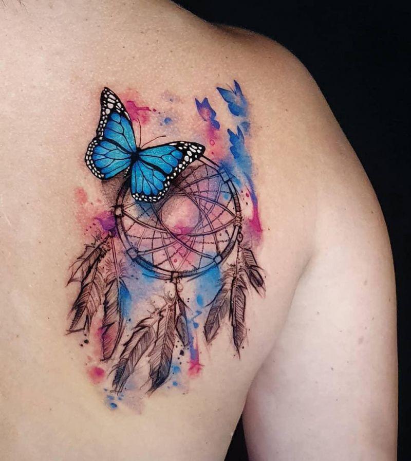 30 Pretty Dreamcatcher Tattoos to Inspire You