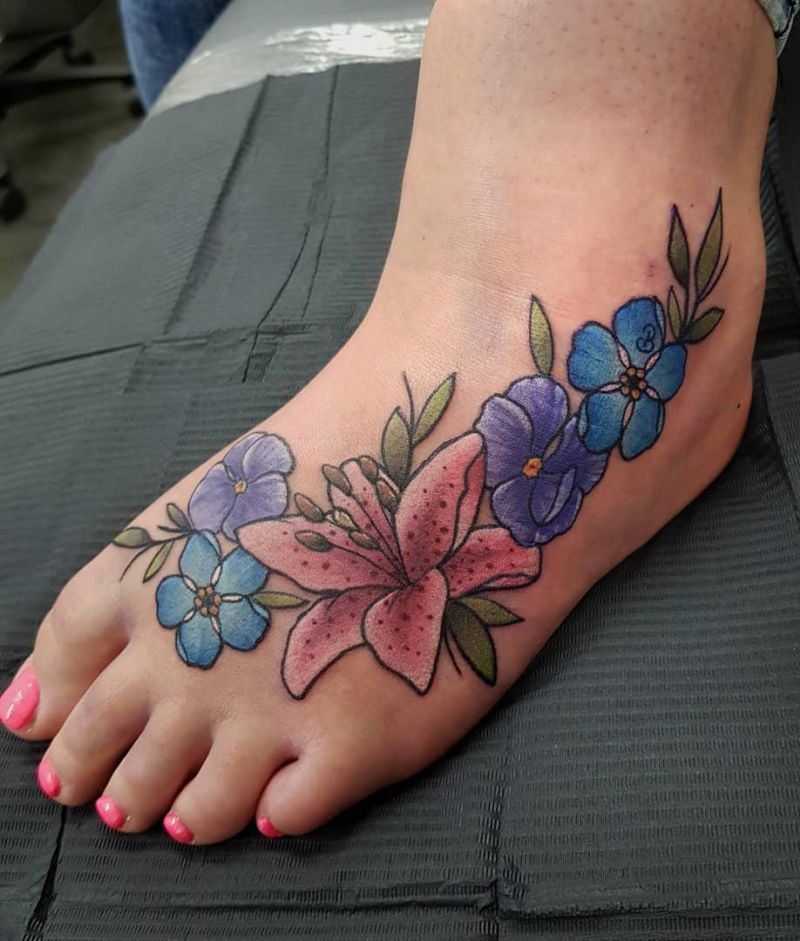 30 Pretty Forget Me Not Tattoos You Must Love