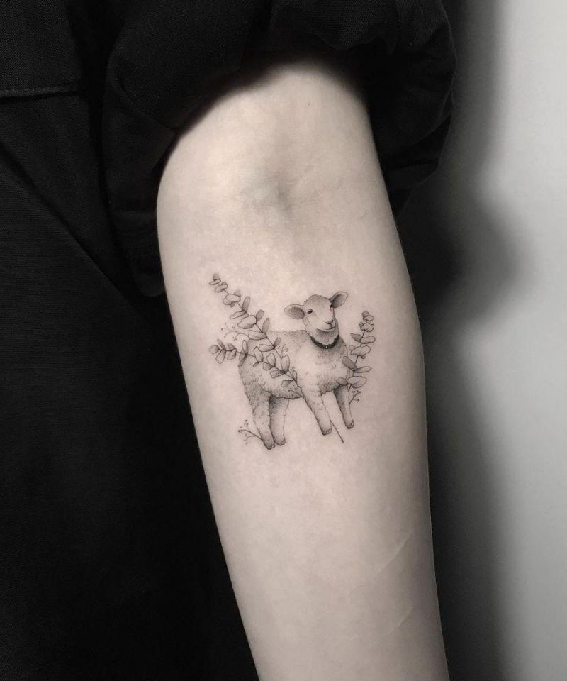30 Cute Sheep Tattoos You Must Love