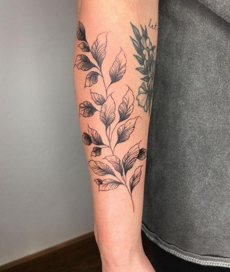 30 Pretty Leaf Tattoos You Can Copy