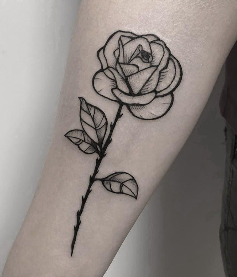 30 Pretty Rose Tattoos You Will Love