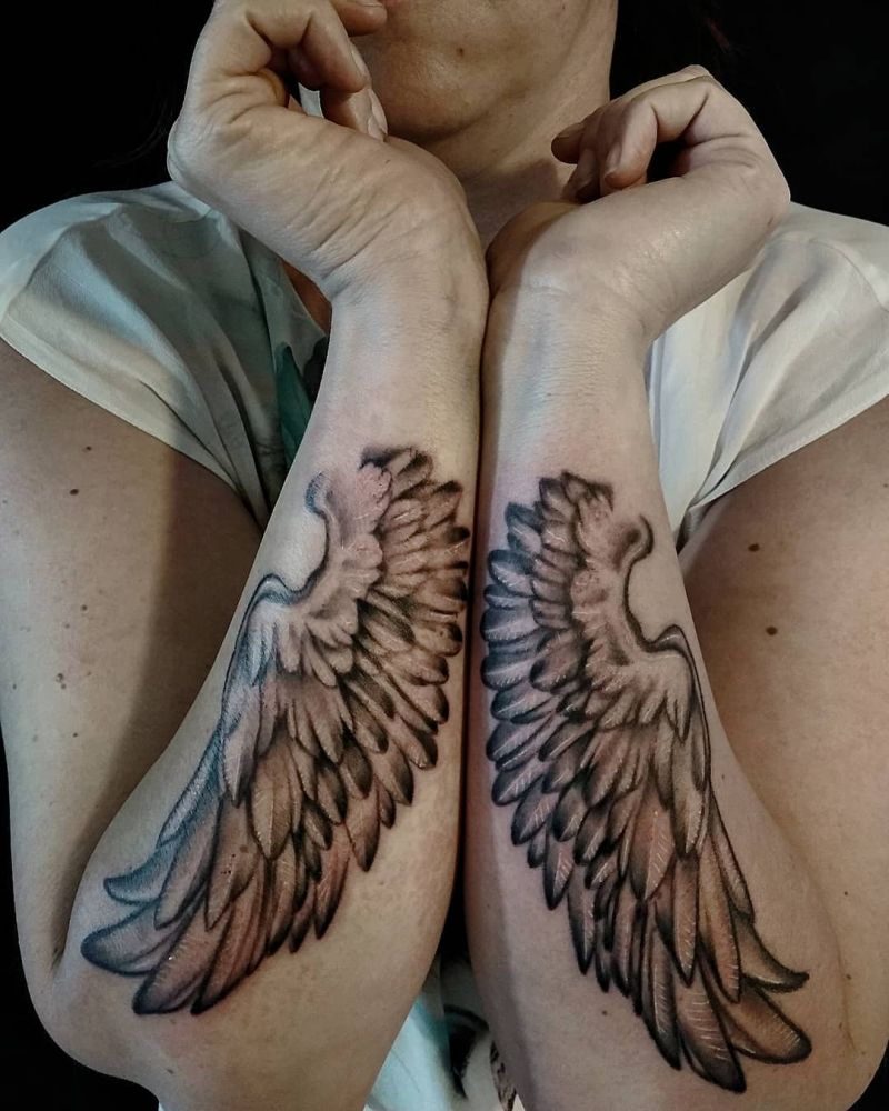 30 Pretty Wing Tattoos Inspire You