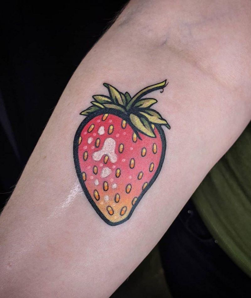 30 Pretty Strawberry Tattoos You Must Try
